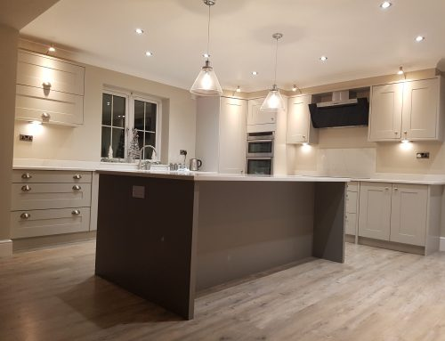 Hand painted kitchen in Chesterfield…