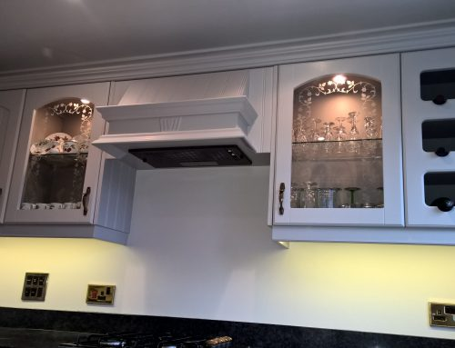 Hand painted kitchen in Bakewell…